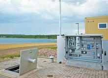폐수 펌프장에서 PumpControl 솔루션 사용