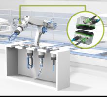 NearFi-koplerit käytössä robotin työkalunvaihdossa