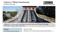 WWTP modernizes rain overflow basins with PLCnext Technology