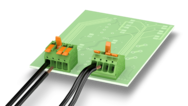 Lever-actuated PCB terminal blocks up to 4 mm² – safe transmission of currents up to 24 A