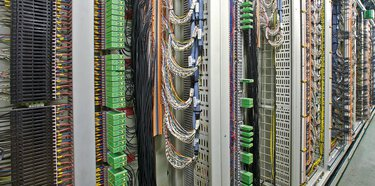 Wiring in the switch room of a process plant