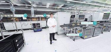 Main level of the 360° virtual Digital Factory