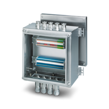 Equipped box with cable gland