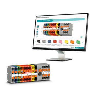 Configurator for PTFIX distribution blocks with a configured block