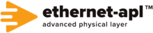 Logo of the Ethernet APL project, in which Phoenix Contact and other leading suppliers of process technology are working on creating a two-wire Ethernet solution