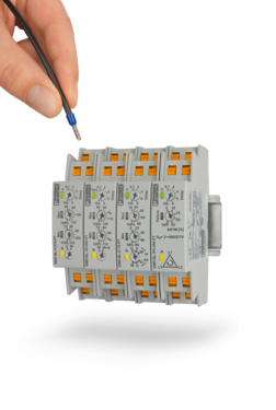 Compact monitoring relays with Push-in connection technology
