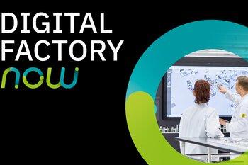 De woorden 'Digital Factory Now'