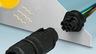 屋外使用に適した産業用丸型防水コネクタ「PRCシリーズ」