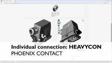 HEAVYCON heavy-duty connectors in use