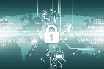 Visualisatie Cyber Security: slot voor een netwerkgekoppelde wereldkaart