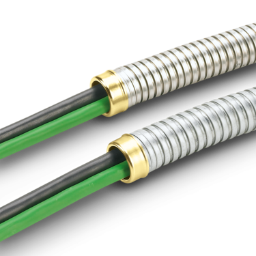 Weather-resistant metal hoses for cable protection
