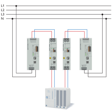 Structure of a redundant system