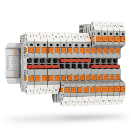Feed-through, multi-level, and component terminal blocks