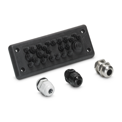 Cable entry system and cable glands