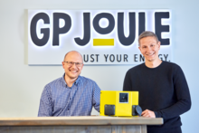 Jonas Elbroend (left), Hardware Product Development, and Piet Gömpel, Software Product Development at GP Joule in Reußenköge, Germany