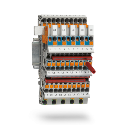 Installation terminal blocks for distribution boards and flat distribution boards