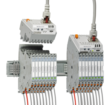 Modular signal conditioner combination with plug-in gateways