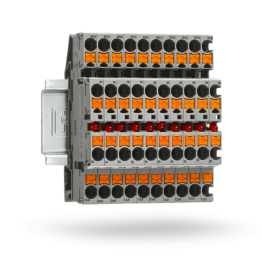 Push-in technology component terminal block