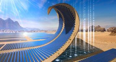Panneaux solaires dans un parc photovoltaïque