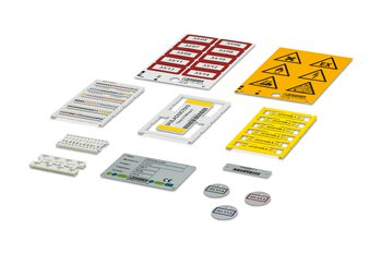 Marking material for industrial identification and marking