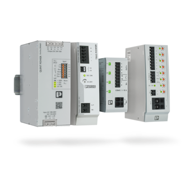 TRIO POWER and QUINT POWER power supplies and the compact CBMC electronic circuit breakers