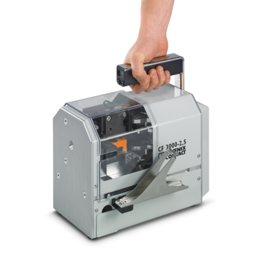 CF 3000 portable stripping and crimping device