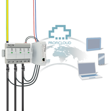 Combined lightning current and surge arrester monitored with ImpulseCheck