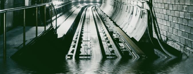 Entwässerung im Tunnel