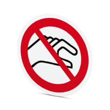"""Prohibition sign """"Do not touch"""""""