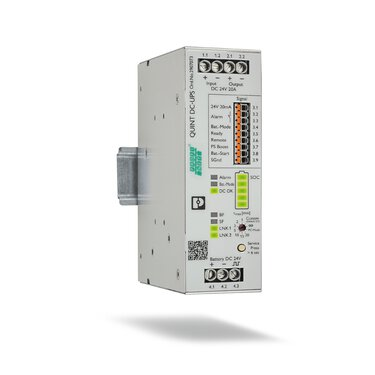 DC-UPS on the DIN rail