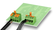 Lever-actuated PCB terminal blocks up to 10 mm² – safe transmission of currents up to 41 A
