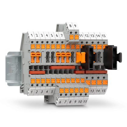 Disconnect and knife-disconnect terminal blocks