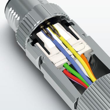 採用穿入連接的感測器/執行器連接器