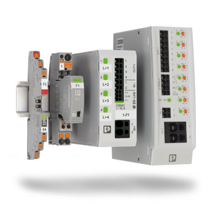 Overview of the electronic circuit breaker product ranges (CBM, CBMC, PTCB, CB E1)