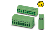 Ex terminals with screw and spring connection