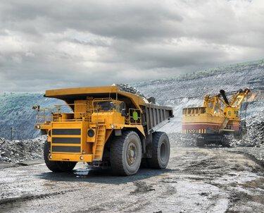 Truck at an open-cast mine