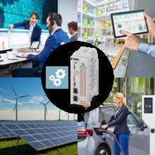 El sistema de control de carga CHARX control modular permite el acoplamiento de sectores entre generadores y redes de energía, edificios, infraestructura de recarga y vehículos eléctricos para una electromovilidad sostenible