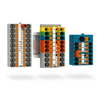 Distribution blocks for load and control current distribution