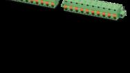 Pas de 7,0/7,62mm (raccordement à ressort Push-in avec bouton-poussoir)