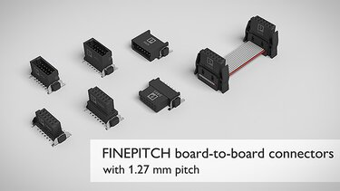 FINEPITCH board-to-board connectors with 1.27 mm pitch for industrial PCB connections
