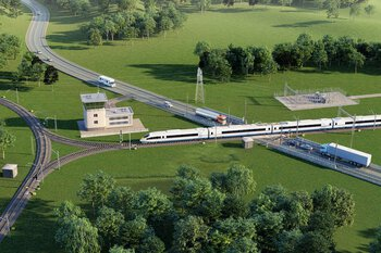 Signal box in railway infrastructure