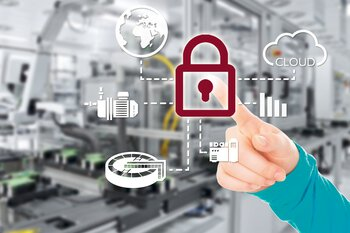 Network security symbol lock