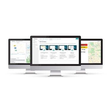 Overzicht van Smart Services op beeldschermen