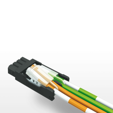 Open data connector with pierce connection