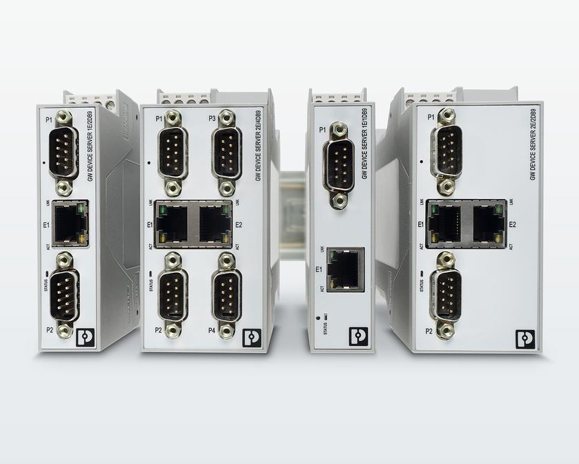 Distintas variantes de servidores para equipos serie como equipos multipuerto