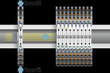 Alimentación a través de un módulo de alimentación de igual contorno, siguiendo el ejemplo de MINI Analog Pro