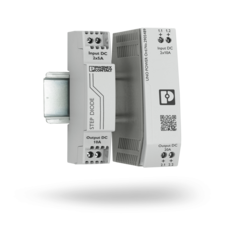 UNO DIODE and STEP DIODE diode modules on DIN rail