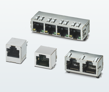 RJ45 sockets for PCB mounting