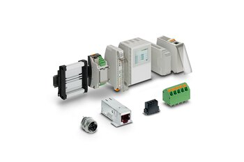 Electronics housings, PCB terminal blocks, and PCB connectors for device manufacturers