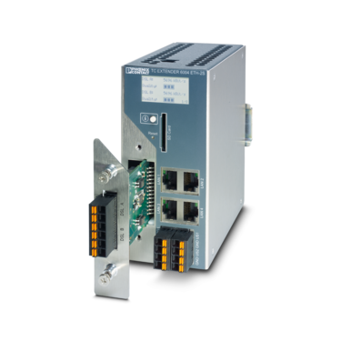 Managed Ethernet extender with swappable surge protection